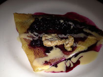 Vegan Crepes With Blueberries