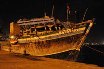 Unser Boot für die Überfahrt in den Jemen.