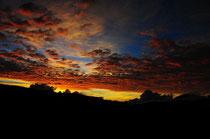 Der Himmel zeigt seine Farben.