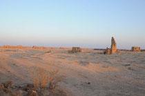Blick auf Ar Rusafa bei Sonnenaufgang