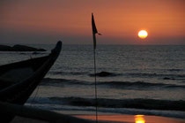 Sonne, Meer und das Rauschen im Ohr - das ist Goa am Agonda Beach.