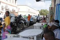 Unser Frühstücksplatz in Dschibuti-Stadt.