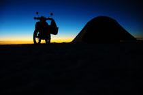 Auf dem Salar de Uyuni.
