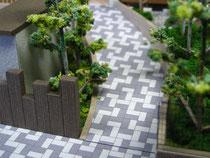 建築模型の外構写真