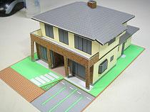 ペーパークラフト 住宅模型 完成写真
