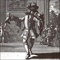 Tanzmeister mit Castagnette und Tuch