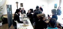 Gruppen, Kreise und Akteure werden noch in diesem Jahr zur Fragebogenaktion aufgerufen. Hier der Helferkreis aus St. Joseph bei der Mittagsverpflegung für bedürftige Menschen (November 2013)
