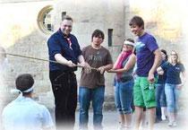 Gruppenleiter mit Teamgeist: Malteser in Kassel