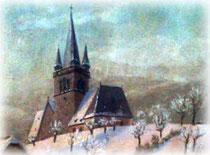 Glockenturm auf dem Rothenberg (Ölbild nach 1907)