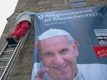 Papstbild an St. Joseph (2014)