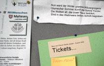 """Wir probieren ein """"Ticket""""-System aus ...  Geben Sie uns doch bitte Rückmeldung dazu!"""