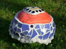 Gartenkugel mit Mosaik