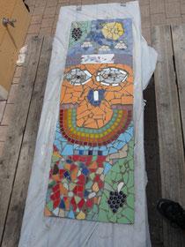 Wandbild mit Mosaik 3-teilig (hier ist nur ein Teil zu sehen)