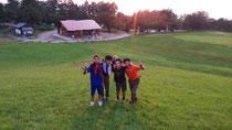 閑乗寺キャンプ場の夕日