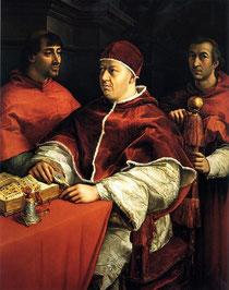 Papst Leo X. (Gemälde: Raphael, Lizenz: gemeinfrei)