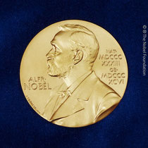 The Nobel Prize medal design mark is a registered trademark of the Nobel Foundation.