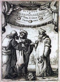 Titelei des Galileischen Dialogs, Lizenz: public domain