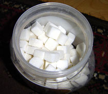 """Cuboid sugar"". Licensed under Creative Commons Attribution-Share Alike 3.0 via Wikimedia Commons - http://commons.wikimedia.org/wiki/File:Cuboid_sugar.jpg#mediaviewer/File:Cuboid_sugar.jpg"