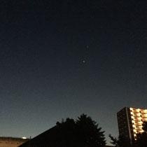 舎人氷川神社からの星