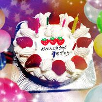 誕生日のケーキ