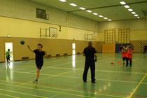Beim Training in der Halle