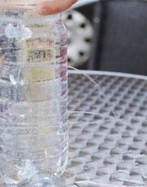 Experiment zum Wasserdruck