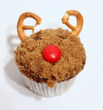 Spekulatius-Cupcake, Rudi-the-red-nosed-Reindeer-Cupcake