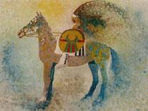 """""""L'Indien"""" estampe (54x60) JF Savornin"""