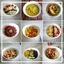Eine Vielfalt an leckeren Speisen