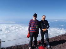 Silvia & Mr.T on Mt.Fuji