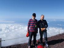 Silvia & Mr.T on Mt.Fuji