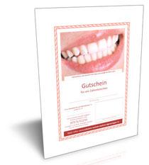 Gutschein für Zahnschmuck, Zahnaufhellung oder professionelle Zahnreinigung Kosten
