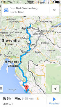 5 hours driving to Tisno