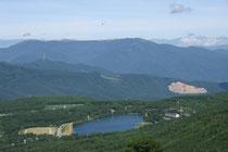 蓼科山方面からの女神湖
