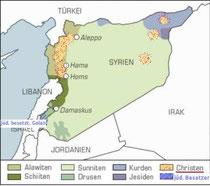 versch.Religionen in Syrien
