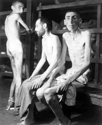 ausgehungerte Häftlinge dort
