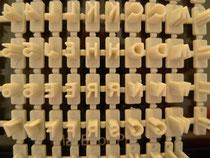 クッキーテキストスタンプ型