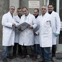 El equipo de la refundada Film Ferrania.