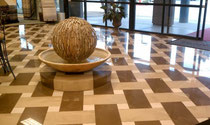 An even, level surface will be reflected in a stunning polished tile floor.