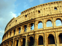 The Colosseum in Rome is made of travertine