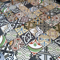 Tile Lines employee Rick snapped this picture of a floor in a Dublin pub. It's certainly seen its fair share of action over the years!