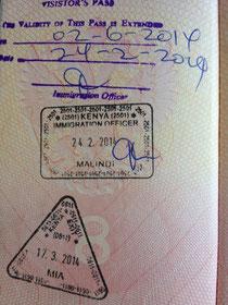 Виза и продление визы в Кению