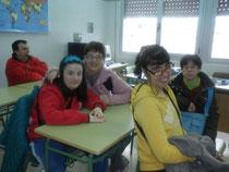 Con Laura en su antigua clase