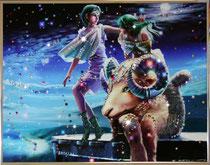 Овен. Картина японского художника Ютака Кагайя с кристаллами Swarovsky.