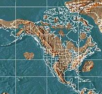 карта Северной Америки после Апокалипсиса.