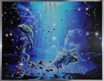Рыбы. Картина японского художника Ютака Кагайя с кристаллами Swarovsky.