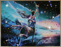 Стрелец. Картина японского художника Ютака Кагайя с кристаллами Swarovsky.