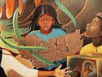 Девочка с табличкой Майя .