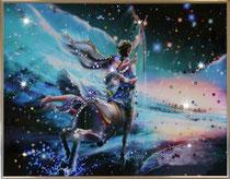 Стрелец. Картина японского художника Ютака Кагайя с кристаллами Swarovsky