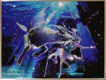 Козерог. Картина японского художника Ютака Кагайя с кристаллами Swarovsky.